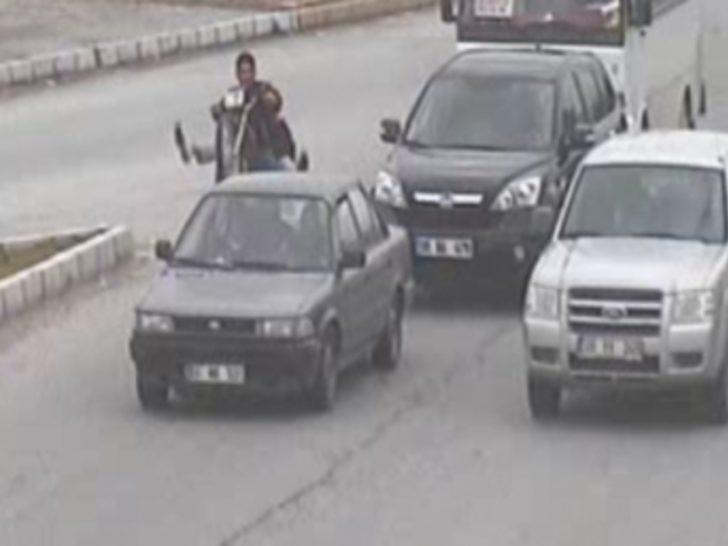 Adana'daki ilginç kazalar Mobese'de