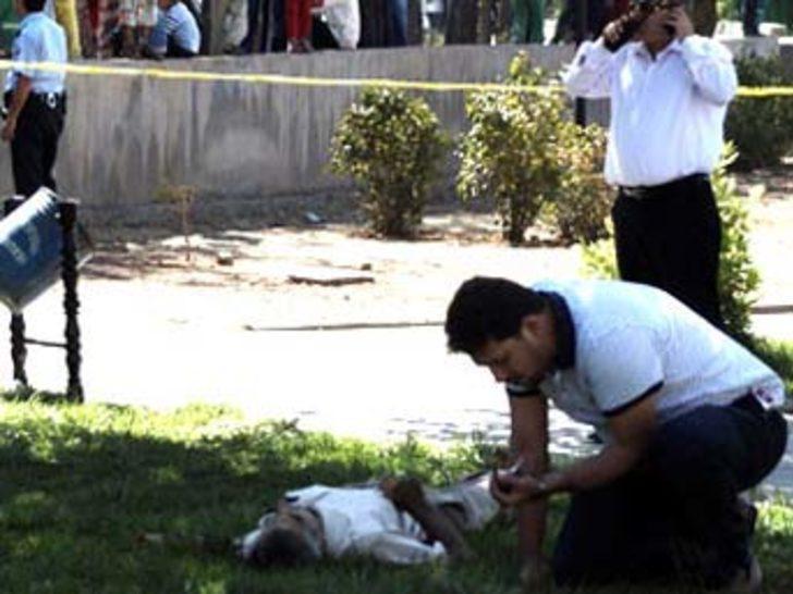Parkta kalaşnikoflu infaz