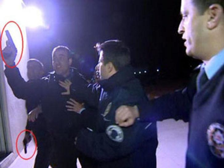 Silah çeken güvenlik görevlisi raporlu çıktı