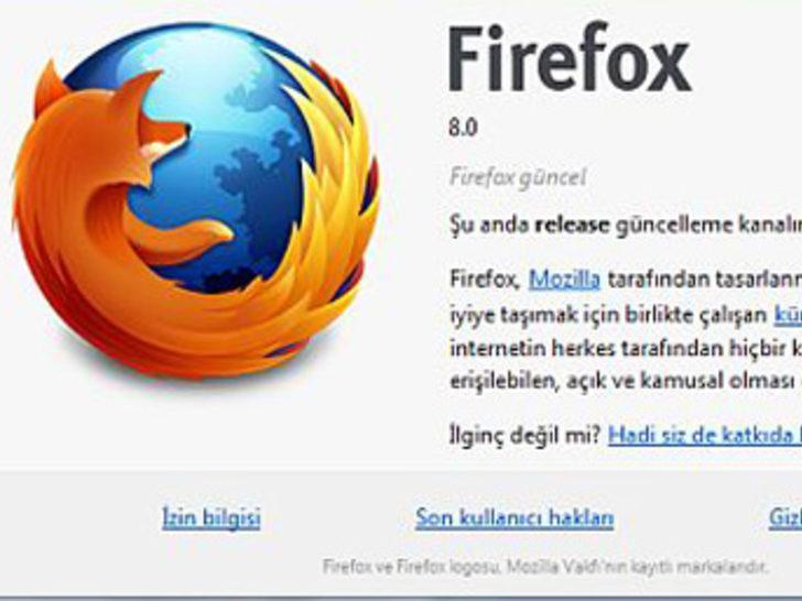 Mozilla Firefox 8 final sürümü hazır