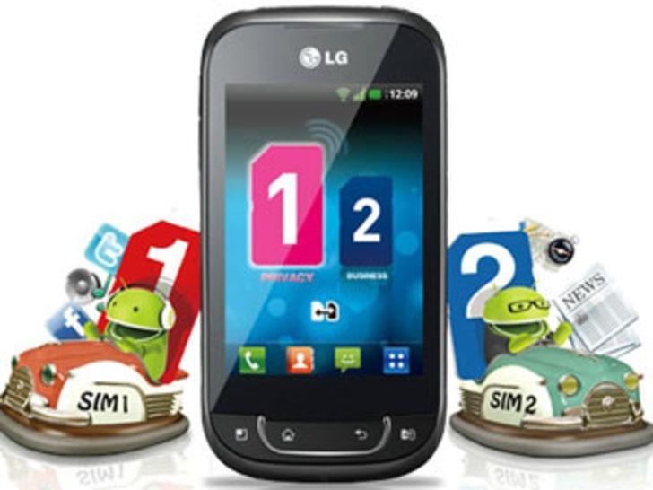 LG'den çift sim kartlı android telefonu