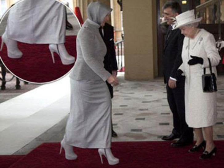 Kraliçe'den, Bayan Gül'ün topuğuna ilgi
