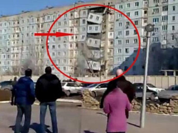 Doğalgaz patlaması apartmanı böyle çökertti