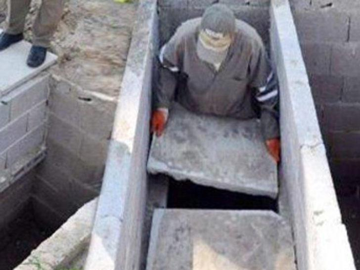 Çift katlı mezarlık uygulaması!
