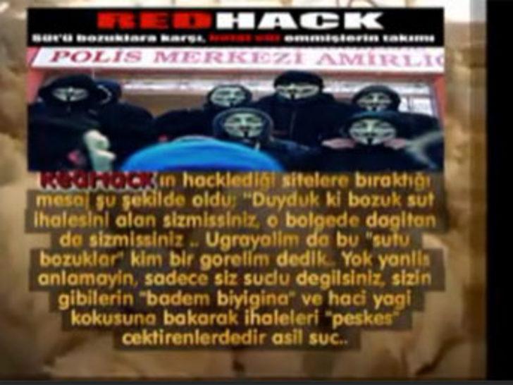 Bozuk süte RedHack tepki verdi