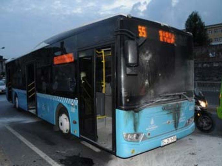 Özel Halk Otobüsü'ne molotoflu saldırı