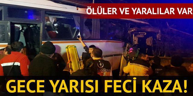 Karabük'te servis minibüsü eve çarptı: 4 ölü, 2 yaralı