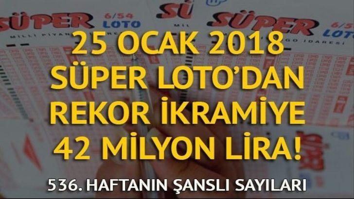Süper Loto sonuçları 25 Ocak: Rekor kıran Süper Loto, bir kişiye 42 milyon kazandırdı!