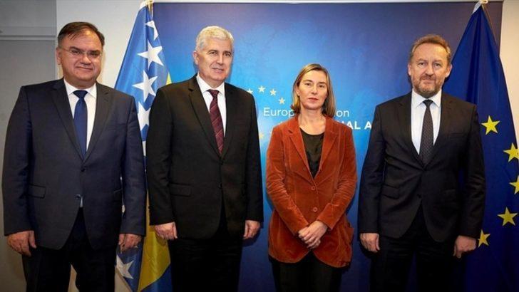 Bosna Hersek Devlet Başkanlığı Konseyi üyeleri Brüksel'de