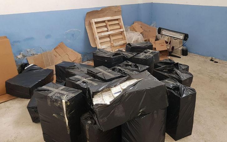 Gaziantep'te 38 bin 600 paket kaçak sigaraya 4 gözaltı