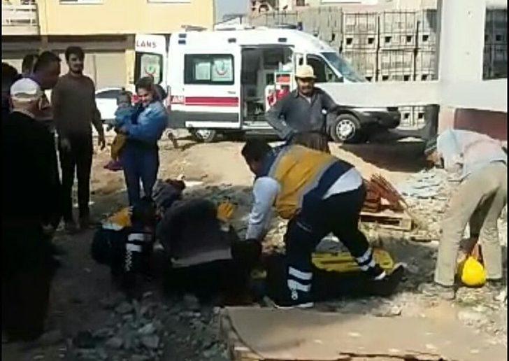 Osmaniye'de, inşaattan düşen işçi öldü