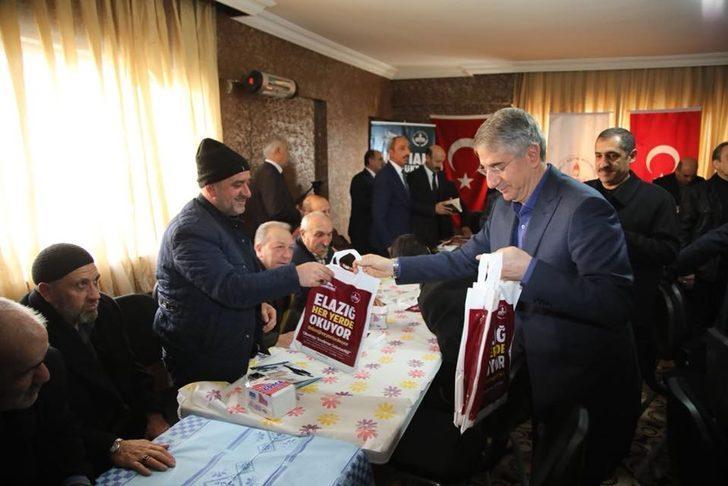 """Başkan Yanılmaz ve muhtarlardan 'Elazığ Her Yerde Okuyor"""" kampanyasına destek"""