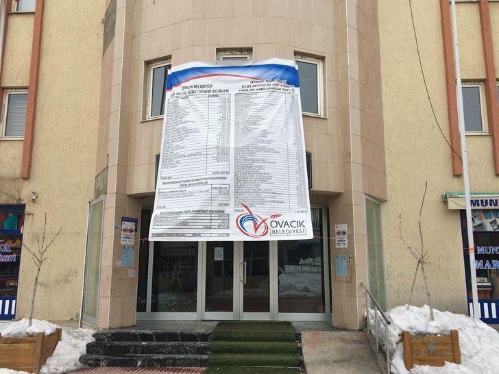 'Komünist Başkan', belediyenin gelir-giderlerini yine afişle duyurdu