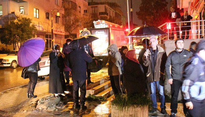 Maltepe'de bina girişi çöktü, vatandaşlar tahliye edildi