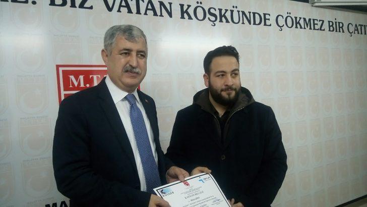 Girişimcilere sertifikaları verildi