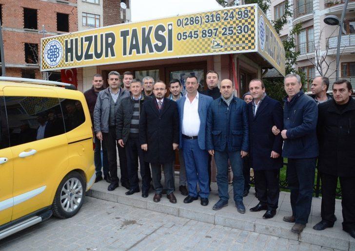 Turan, taksicilerle bir araya geldi
