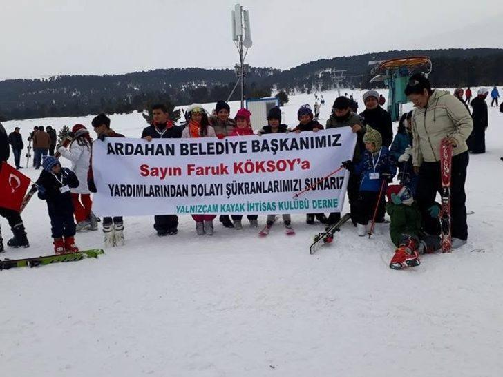 Yalnızçam Kayak İhtisas Kulübü Derneği'nden Belediye Başkanı Köksoy'a teşekkür