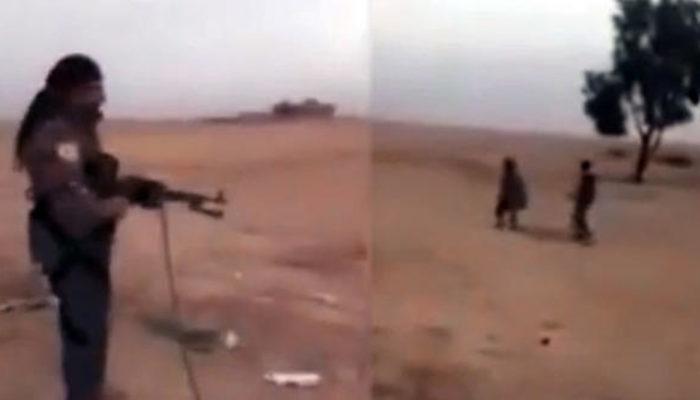 YPG'li teröristten kan donduran görüntü: Kurşuna dizdi!