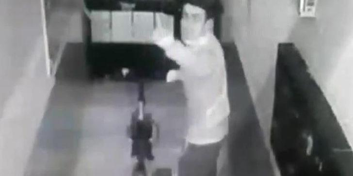 Bisikleti çaldı, güvenlik kamerasına el salladı