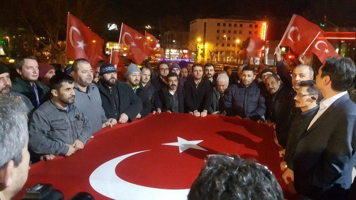 Taksiciler Afrin için kan verdi