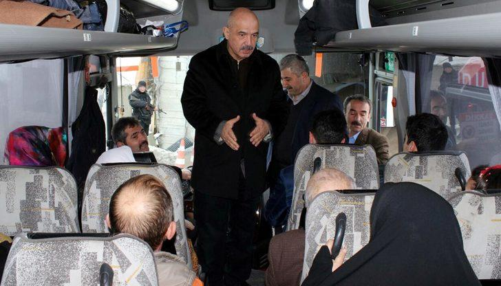 Milletvekili Ilıcalı, yolcu otobüsü ile Ovit Tüneli'nden geçti