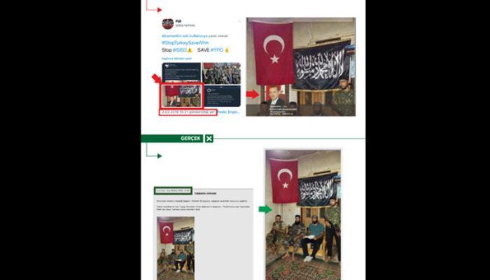 PYD/PKK destekçileri, Erdoğan'ın fotoğrafını montajlayarak yalan üretti
