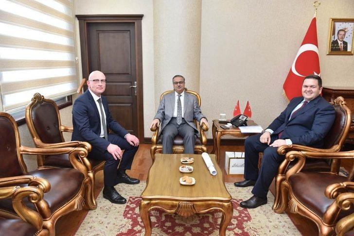 Vali Su, MIP Genel Müdürü Daele'yi kabul etti