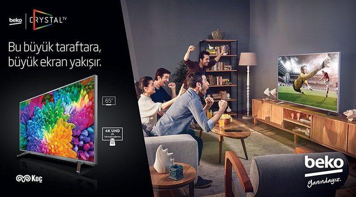 Beko Crystal TV serisi ile büyük ekran büyük keyif