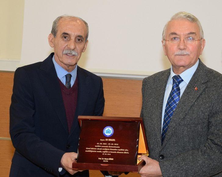 Emekliliğe ayrılan ESOGÜ Genel Sekreteri Ali Urazel için veda yemeği