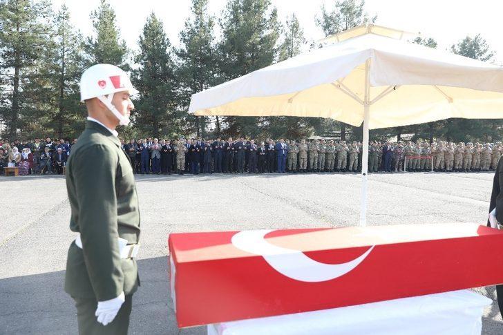 Şehit korucu için tören düzenlendi
