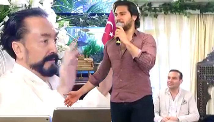 Adnan Oktar'ın 'Aslanları' mikrofonu eline alınca ortaya bu görüntü çıktı