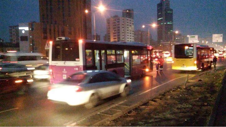 Ataşehir'de yol verme kavgası: 1 yaralı