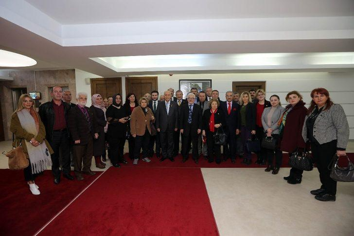 Başkan Yaşar BAŞKON'u ağırladı
