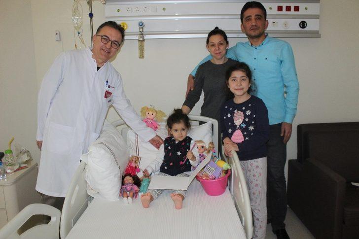 2,5 yaşındaki Duru sağlığına kavuştu