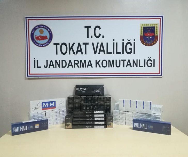 Yolcuların valizinden 410 paket kaçak sigara çıktı