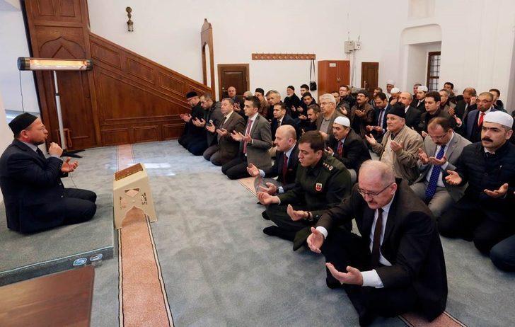 Amasyalı muhtarlar 'Zeytin Dalı Harekatı' şehitleri için mevlit okuttu