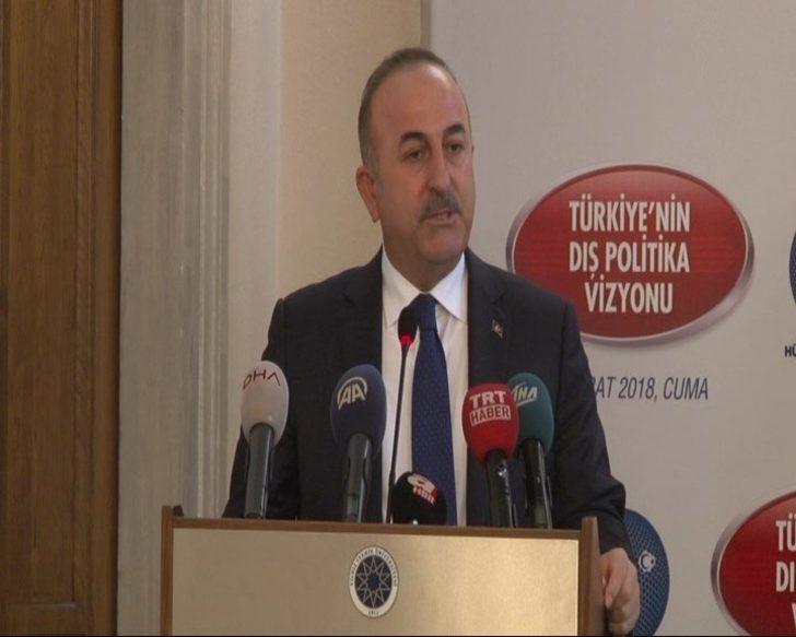 Çavuşoğlu: Sınırımızı temizlemezsek yarın Türkiye'nin başına bela olur ve daha büyük tehditler oluşur