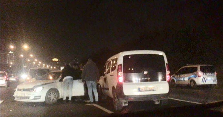 TEM'de gece trafiğini kilitleyen kaza