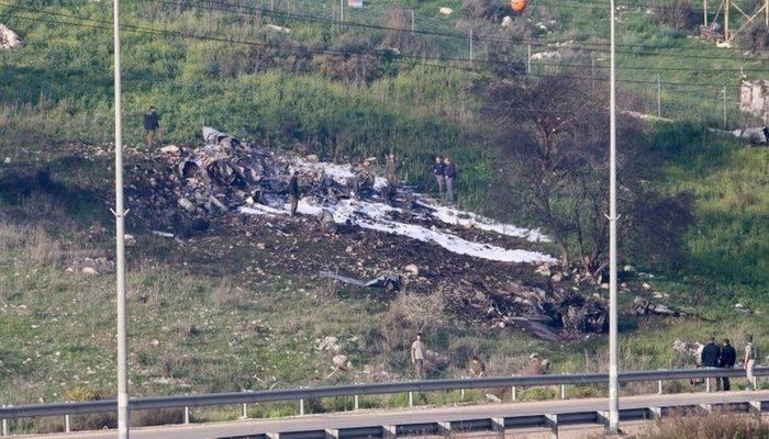 Suriye'de İran hedeflerine saldırı düzenleyen İsrail uçağı düşürüldü