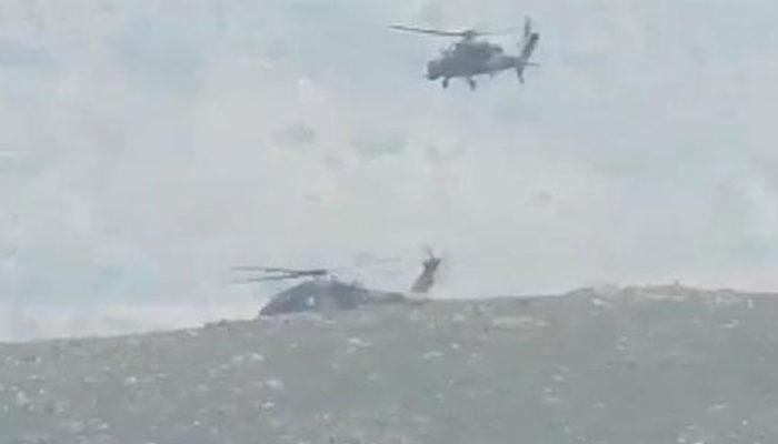 Afrin'de son dakika kahreden haber! Askeri helikopter düştü, şehitler ve yaralılar var