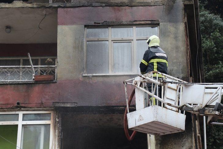 Kozlu'da çıkan yangın korkuttu