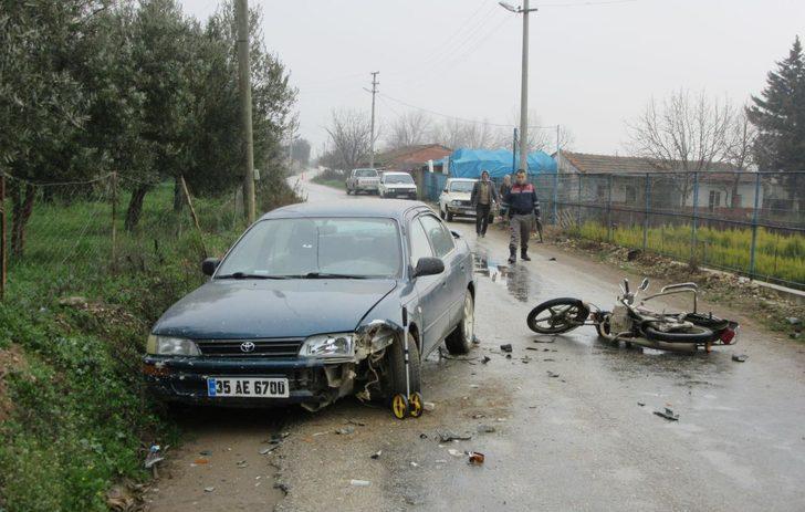 Kazada yaralanan motosikletli yaşama tutunamadı