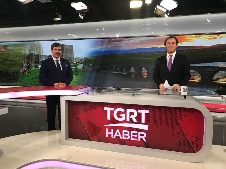 Başkan Asya, TGRT Haber'in canlı yayınına konuk oldu