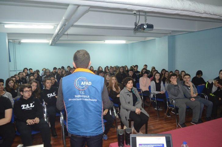 AFAD'tan lise öğrencilerine eğitim