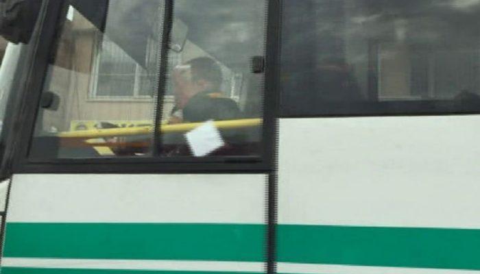 Adana'da otobüste skandal görüntü