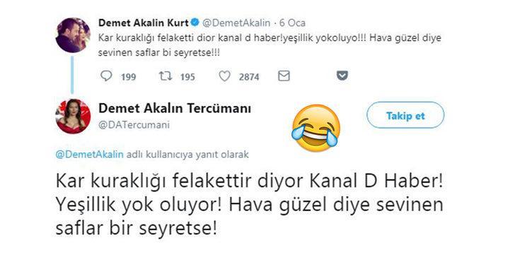 Her paylaşımı olay olan Demet Akalın'ın Twitter paylaşımları için yeni bir hesap açıldı: Demet Akalın Tercümanı