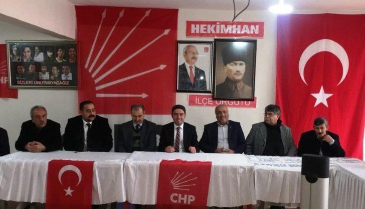 CHP İl Başkanı Kiraz, Hekimhan'ı ziyaret etti