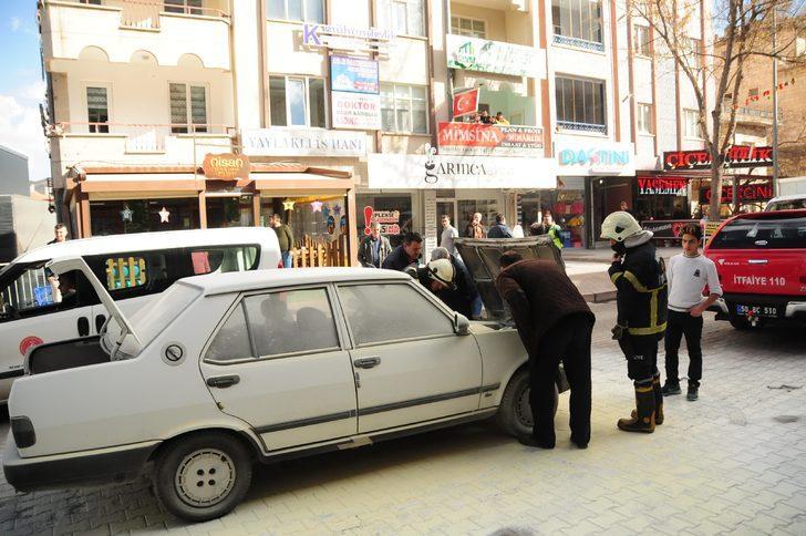 Nevşehir'de otomobil yangını