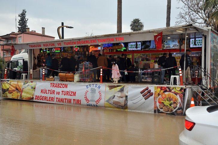 Trabzon'un yöresel ürünleri Gastronomi kenti Gaziantep'te