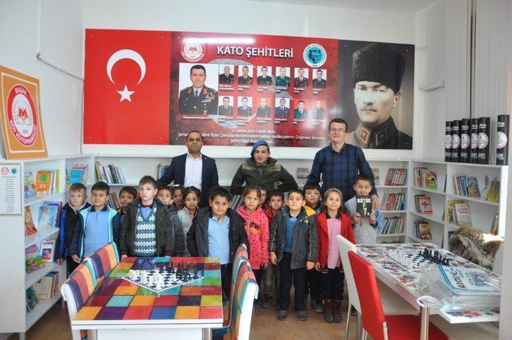 Uşak'ta Kato şehitleri adına kütüphane açıldı